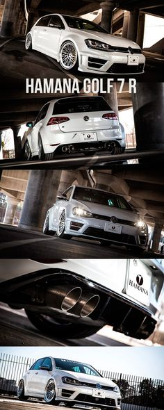 Hamana VW Golf 7 R widebody kit with Vossen Wheels