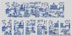 ru / Фото - , - irinika blue willow 7 of 8 Mini Cross Stitch, Cross Stitch Samplers, Cross Stitching, Cross Stitch Embroidery, Embroidery Patterns, Cross Stitch Designs, Cross Stitch Patterns, Blackwork, Crochet Lego