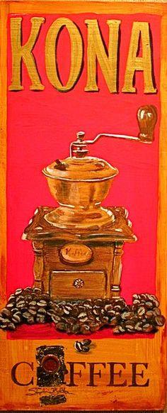 Hawaii Artist: Stephanie Bolton - Kona Coffee Artwork