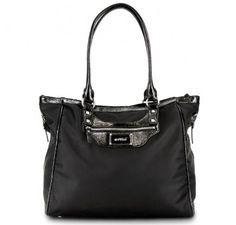 "OOYOO diaper bag ""Betsy"" black noir - front view"