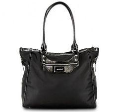 "OOYOO diaper bag ""Betsy"" black noir - front view"