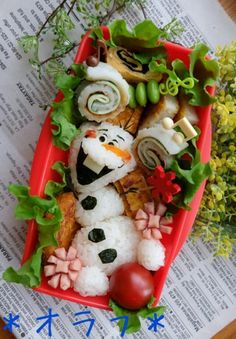 """With Detailed Instructions * """"Frozen"""" Charaben with Olaf"""