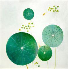 a very small pond.  artist, natsuo ikegami.