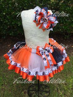 Denver Broncos Sewn Ribbon Trimmed TuTu Optional by FashionStation