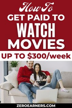Do you want to know how to get paid to watch movies? Yes? Here are some of the best ways to earn up to $300 per week. #watchmovies #getpaidto #gpt #netflixtagger #makemoneyonline #parttimejobs #sidehustles #extramoney
