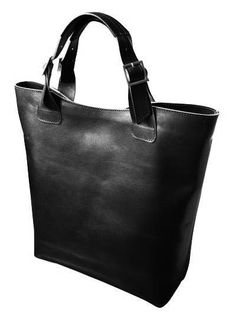 piękna duża torba ze skóry naturalnej, czarna w BAGS4JOY na DaWanda.com
