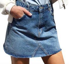 Adorable A-Line Denim Skirt