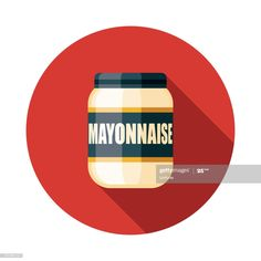 View top-quality illustrations of Mayonnaise Condiment Icon. Education Clipart, Mayonnaise, Flat Design, Icon Design, Illustration, Infographic, Infographics, Illustrations, Visual Schedules