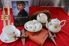 What a darling photo, courtesy of reader friend Matthew N Kim Potter! Love the donuts...the trumpet...the Zane Grey...the baseball! Adler Paxton and Violet Lindstrom approve wholeheartedly.