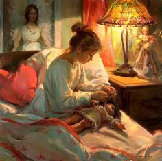 Daniel Gerhartz Paintings | girl-with-doll-painting-daniel-gerhartz.jpg