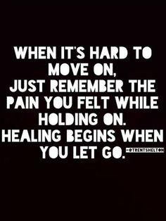 Healing begins when you let go..