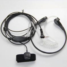 1-Pin Laringofono Bodyguard Tubo Acustico Cuffia Auricolare Con Dito PTT Per Motorola Talkabout Cobra Radio