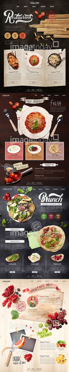 nice unconventional interface, fun web fonts, full bleed images, you can visually and emotionally taste the food. Design Sites, Food Web Design, Page Design, Interface Web, Interface Design, Website Design Inspiration, Web Layout, Layout Design, Menue Design