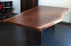 Urban Hardwoods® Los Angeles, walnut slab dining room table
