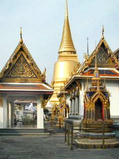 Bangkok, Thailand - The royal palace and the Wat Phra Kaeo, the emerald buddha temple.