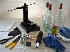 DIYNetwork.com has instructions on how to make pendant lights from old wine bottles.