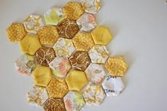 Adorable, puffy, hexagon quilt.