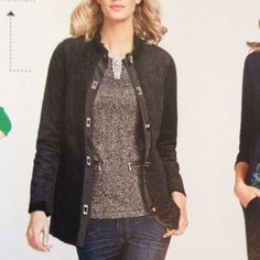 Jacket Fully lined faux shearling jacket. Beautiful attention to detail. Perfect for a night out or to throw over jeans or leggings. CAbi Jackets & Coats Blazers
