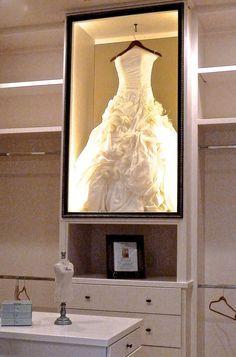 framed wedding dress in closet - Google Search