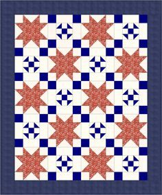 COTTAGE CHARM Free lap quilt pattern perfect for a Quilt of Valor Adapted from a quilt designed by KARIN JANSSEN-POTTER Featured in the January/February 2016 issue of McCall's Quilting