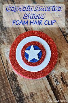 Captain America Shield Foam Hair Clip #AvengersUnite #CollectiveBias #ad