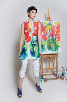 Little Garden top is wearable art by Claire Desjardins! Available in stores across Canada and the US. #ClaireDesjardins #ClaireDesjardinsApparel #WearableArt #ArtAndFashion #FashionAndArt #DesignerClothing #DesignerApparel #WomensWear #AbstractArt #AbstractPainting #CarreNoir #Fashion #ArtClothing #ArtistOnInstagram #ArtistOfInstagram #Clothing #Apparel #WomensApparel #WhereFashionMeetsArt #WhereArtMeetsFashion #Dresses #Dress #Blouse #Jacket #highlow #sundress #dress #sayyestothedress…