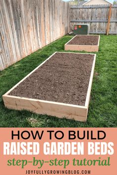 Use this DIY raised garden bed tutorial to create an efficient garden layout with the benefits of raised garden beds! These easy wood garden beds will transform your garden into a gardener's dream. Use the exact DIY raised garden bed tutorial to learn how Cheap Raised Garden Beds, Raised Vegetable Gardens, Easy Garden, Vegetable Gardening, Container Gardening, Indoor Garden, Diy Garden Bed, Small Raised Garden Ideas, Raised Bed Diy