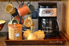 create a coffee station in your kitchen, home decor, kitchen design, Coffee station arranged on a tray for complete organization