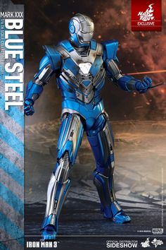 Marvel Iron Man Mark XXX - Blue Steel Sixth Scale Figure by | Sideshow Collectibles
