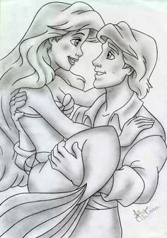 Ariel And Eric - Disney by filipeoliveira on deviantART