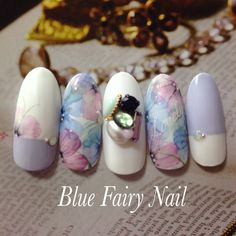 pretty light purple floral with jewel