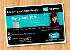 Einladung Einladungskarten Jugendweihe originelle 71 - Bild vergrößern