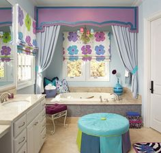 20 Lovely Ideas for a Girls' Bathroom Decoration | Home Design Lover