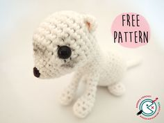 In memory of my beloved little assistant : a crochet ferret [free amigurumi pattern] Crochet Teddy Bear Pattern, Crochet Patterns Amigurumi, Crochet Toys, Free Crochet, Easy Crochet Animals, Ferret Toys, Hand Embroidery Patterns, Sewing Patterns, Reno