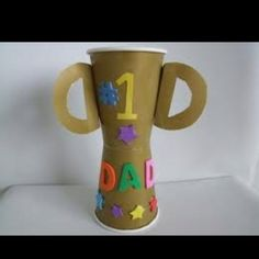 Cute trophy for Dad!