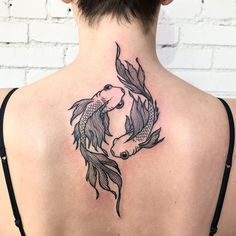 inspiration pisces tattoo ideas twin fish and Pisces Twin Fish Tattoo Tattoo Ideas and InspirationYou can find Fish tattoo and more on our website Back Tattoos, Cute Tattoos, Beautiful Tattoos, Body Art Tattoos, New Tattoos, Sleeve Tattoos, Tattoos For Guys, Nape Tattoo, Back Tattoo Women