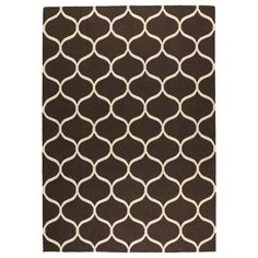 STOCKHOLM Rug, flatwoven - IKEA    Found this pattern in black and white wool  at homegoods