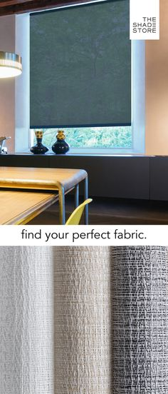 With more than 85 eco-friendly materials, you're sure to find the perfect fabric for your windows. Order your free swatches today, and receive them in 1-3 business days.