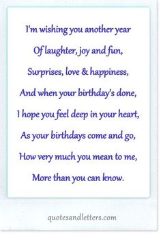 Free Birthday Verses For Cards Greetings and Poems For Friends Birthday Verses For Cards, Birthday Poems, Birthday Card Sayings, Birthday Sentiments, Birthday Wishes Quotes, Birthday Greetings, Birthday Cards, 40th Birthday, Husband Birthday
