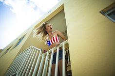 Blogger Collab: Amanda Del Duca in our Springsteen Bandeau Top