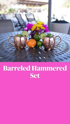 Copper Mugs, Barrel, Table Decorations, Home Decor, Decoration Home, Barrel Roll, Room Decor, Barrels, Home Interior Design