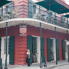 The French Quarter combines European design with Southern charm. #NewOrleans #HotelMonteleone
