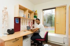 Mountain Halls Standard: Kashif, 19, Chiropractic student, inside his room.