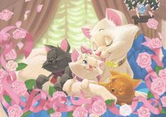 Disney's The Aristocats:) Disney Pixar, Disney Fan Art, Disney E Dreamworks, Disney Cats, Disney Movies, Walt Disney, Disney Characters, Disney Dream, Disney Magic