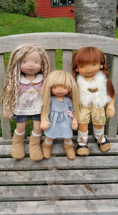 Marthe, Anne and Clémence by North Coast Dolls. Photo credit to Trenne Joe