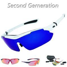 ed9e15f34d7 Reedocks NEW 2.0 Vision 5 Lens Cycling Glasses Polarized Myopia Frame Sport  Hiking Eyewear Riding Bicycle Bike UV400 Sunglasses-in Cycling Eyewear from  ...