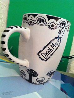 Alice inspired mug by FaithTrustDust on Etsy