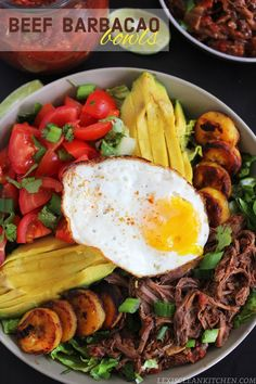 Beef Barbacao Bowls #slowcooker #paleo | Lexi's Clean Kitchen
