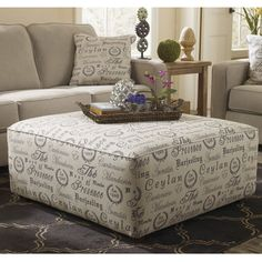 Signature Design by Ashley Alenya Quartz Oversized Ottoman - Overstock™ Shopping - Great Deals on Signature Design by Ashley Ottomans