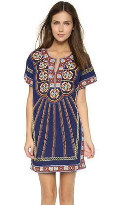 87f043fe6d Pia Pauro Embroidered Beach Dress Swimsuit Cover Ups, Batwing Sleeve, Pia,  Ethnic Fashion